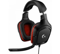 Logitech Gaming Headset G332 Symmetra - Black/Red - 3.5 MM, Leatherette 981-000757