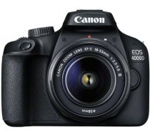 Canon EOS 4000D + 18-55mm III Kit, melns
