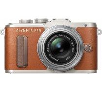 Olympus PEN Lite E-PL8 + 14-42 EZ Kit, brūns/sudrabots