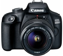 Canon EOS 4000D + 18-55mm III Kit, melns 3011C003