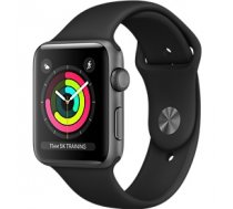 Apple Watch Series 3 42mm Aluminium Case with Black Sport Band MTF32EL/A Black