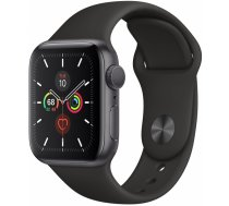 Apple Watch Series 5, GPS, 40mm Space Gray Aluminium Case with Black Sport Band / MWV82GK/A