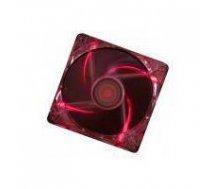 CASE FAN 120MM TRANSP 3PIN+4P/RED 12V XF046 XILENCE