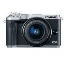 Canon EOS M6 + EF-M 15-45mm IS STM Kit, black , silver