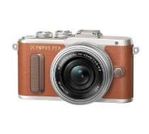 Olympus PEN E-PL8 M.Zuiko 14-42mm 1:3.5-5.6 EZ Pancake zoom brown/slv kit