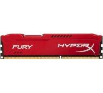DDR3 Kingston HyperX Fury Red 4GB 1600MHz CL10 HX316C10FR/4