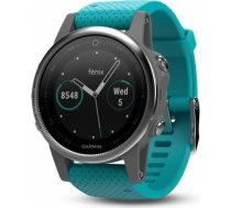 Garmin fēnix 5S - Silver with turquoise band 010-01685-01