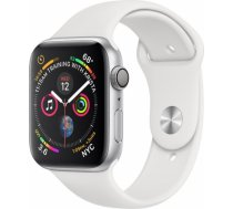 Apple Watch Series 4 44mm Silver Case / White Band viedā aproce MU6A2ZP/ A WATCH SERIES 4 44MM SILVER CASE / WHITE BAND VIEDĀ APROCE MU6A2Z