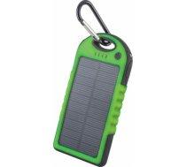 Powerbank Forever Bateria uniwersalna zewnętrzna solarna Forever PB-016 5000 mAh zielona - GSM GSM011347