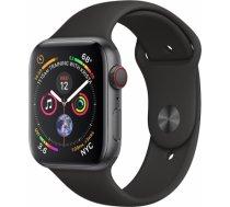 Apple Watch Series 4 44mm Space Grey case / Black Band viedā aproce MU6D2 WATCH SERIES 4 44MM SPACE GREY CASE / BLACK BAND VIEDĀ APROCE MU