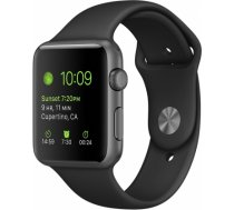 Apple Watch Series 3 38mm Grey Case / Black Band viedā aproce MQKV2CN/ A WATCH SERIES 3 38MM GREY CASE / BLACK BAND VIEDĀ APROCE MQKV2CN/
