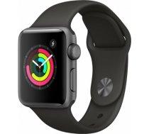 Apple Watch Series 3 42mm Space Grey Case / Black Band viedā aproce MQL12 WATCH SERIES 3 42MM SPACE GREY CASE / BLACK BAND VIEDĀ APROCE MQ