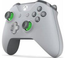 Microsoft Xbox One S Wireless Controller Grey/ Green spēļu kontrolieris XBOX ONE S WIRELESS CONTROLLER GREY/ GREEN SPĒĻU KONTROLIERIS