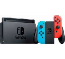 Nintendo Switch Neon Red & Blue Joy-Con (Revised) spēļu konsole SWITCH NEON RED & BLUE JOY-CON (REVISED) SPĒĻU KONSOLE