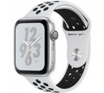 APPLE Watch Nike+ Series 4 GPS MU6K2WB/A 44mm Silver Aluminium Case with Pure Platinum/Black Nike Sport Band | ATAPPZAW4AMU6K2  | 190198915726