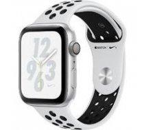 APPLE Watch Nike+ Series 4 MU6K2UA/A GPS 44mm Silver Aluminium Case with Pure Platinum/Black Nike Sport Band A1978   MU6K2UA/A    190198928610