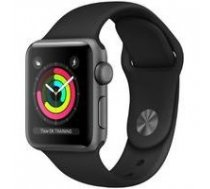 APPLE Watch Series 3 GPS 38mm Grey Aluminium Black Sport Band | 0190198806215  | 0190198806215