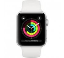 APPLE Watch Series 3 GPS 42mm Silver Aluminium White Sport Band | 0190198806758  | 0190198806758