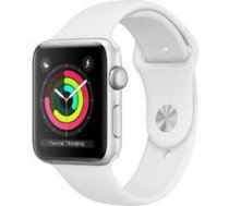 APPLE Watch Series 3 GPS MTEY2MP/A 38mm Silver Aluminium Case with White Sport Band | ATAPPZAW3AMTEY2  | 190198805850