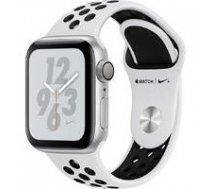 APPLE AppleWatch Nike+ Series4 GPS, 40mm Silver Aluminium Case with Pure Platinum/Black Nike Sport Band, Model A1977 | MU6H2UA/A