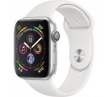 APPLE Apple Watch Series 4 GPS, 40mm Silver Aluminium Case with White Sport Band, Model A1977 | MU642UA/A  | 190198928337