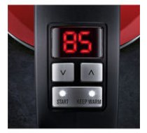 Electrolux  Kettle EEWA7700R With electronic control, Stainless steel, Watermelon Red, 2400 W, 360° rotational base, 1.7 L   EEWA7700R    7332543543052