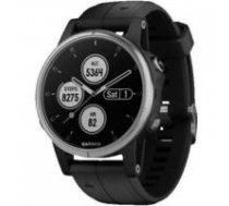 Garmin fenix 5S Plus,Glass,Silver w/Black Bnd,GPS Watch,EMEA | 010-01987-21  | 753759207007