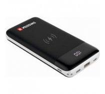 SWISSTEN Swissten All In One Universāla Ārējas Uzlādes Baterija 3A / PD / QC 3.0 / Wireless 10W / USB / USB-C / 10000 mAh Melna | SW-PWB-AIO-10000  | 8595217461796
