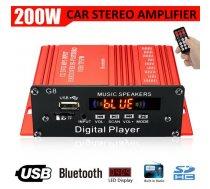 Audio pastiprinātājs 200w ar bluetooth, usb, 2 kanāli