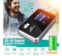 4G wifi rūteris, modems, mobilais, ar LCD displeju, uzlādējams