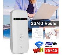 Pārnēsājams 3G, 4G wifi rūteris, modems ar akumulatoru