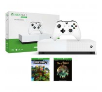 Microsoft Xbox One S All-Digital Edition 1TB + Minecraft and Sea of Thieves Game Console Package, white