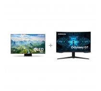 "Samsung QE55Q90TAT 55 ""4K Ultra HD LED TV + Samsung Odyssey G7 gaming display"