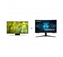 "Samsung QE55Q95TAT 55 ""4K Ultra HD LED TV + Samsung Odyssey G7 gaming display"