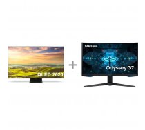 "Samsung QE65Q900T 65 ""8K Ultra HD LED TV + Samsung Odyssey G7 gaming display"