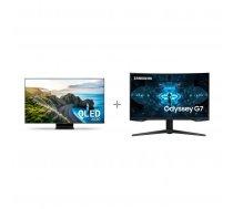 "Samsung QE75Q90TAT 75 ""4K Ultra HD LED TV + Samsung Odyssey G7 gaming display"