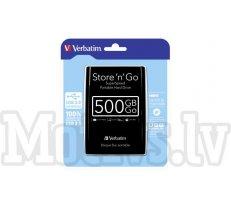 Verbatim Store n Go Portable USB 3.0 black              500GB (53029)