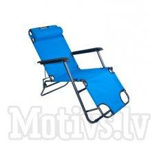 Dārza Pludmales Guļamkrēsls Sauļošanās Atpūtas Saliekams Krēsls, zils (54110)