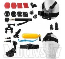 Gopro 14 in 1 Montage set kit black - GoPro kopmplekts 14 in 1 ar somu (53516)