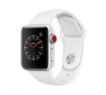 Apple Watch Series 3 GPS 42mm Silver Alu White Sport Band  sporta pulkstenis
