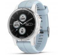 Garmin fenix 5S Plus Glass White/Seafoam  sporta pulkstenis balts