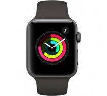 Apple Watch Series 3 Sport 38mm Aluminium Grey Plastic Band Black