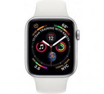 Apple Watch Series 4 Sport 44mm (GPS only) Aluminium Silver Sport Band White
