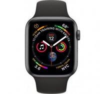 Apple Watch Series 4 Sport 44mm (GPS plus LTE) Aluminium Grey Sport Band Black