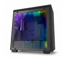NZXT computer case H700i Matte Black, LED lights