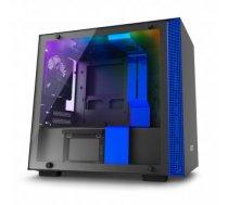 NZXT computer case H200i Black / Blue, LED lights