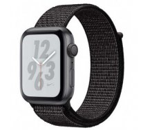 Apple Watch Nike+ Series 4 GPS, 40mm Space Grey Aluminium Case with Black