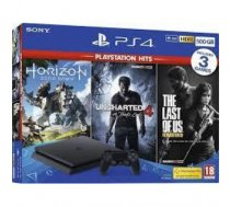 PLAYSTATION 4 CONSOLE 500GB / SLIM BK HZD /  UNCH4 /  TLOUS SONY