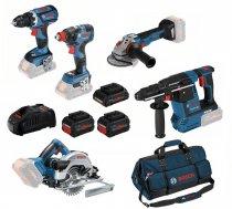 5 Tool Kit: GSR 18V-60 C + GDX 18V-200 C + GBH 18V-26 + GWS 18V-10 C + GKS 18-57, 2x8.0PrC, 1x4.0PrC, 1880CV 0615990L50