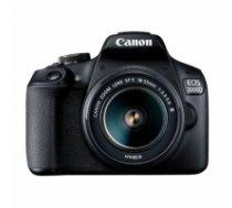 "Canon EOS 2000D 18-55 III EU26 SLR Camera Kit, Megapixel 24.1 MP, Image stabilizer, ISO 12800, Display diagonal 3.0 "", Wi-Fi, Video recording, APS-C, Black 2728C002"